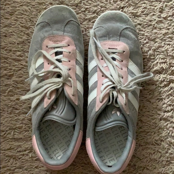 adidas Shoes - Custom gazelle grey/pink